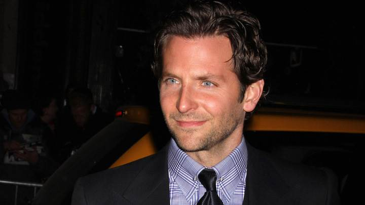 Bradley Cooper Smiling And Looking Smart In Black Coat